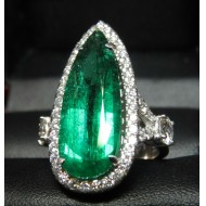 Sold Gia 6.24Ct F1 Emerald & Diamond Ring by Daniel Arthur Jelladian