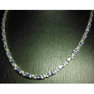 "$250 20"" 9.00Ct Tanzanite Oval Necklace Sterling Silver"