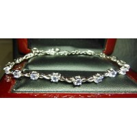 1.16CT TANZANITE TENNIS BRACELET STERLING $1NR GIFTS FOR EVERYONE ON YOUR LIST