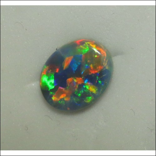 Sold Gia Certified 3.85Ct Gray Opal displaying play of Color
