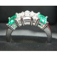 Sold Gia D color Vvs2 Diamond & Emerald Band Platinum By Daniel Arthur Jelladian