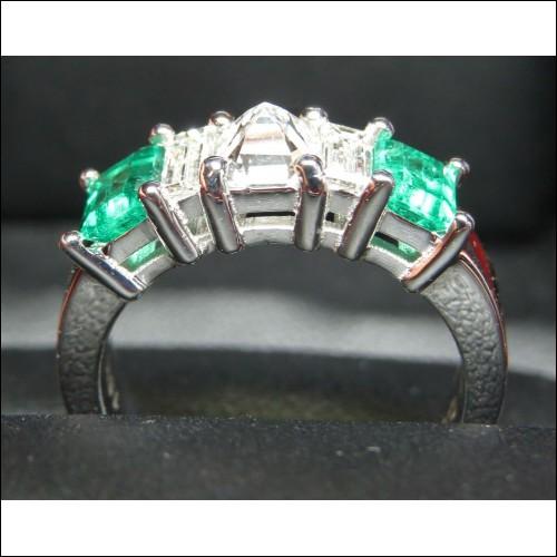 Sold Gia D color Vvs2 Diamond & Emerald Band Platinum By Daniel Arthur Jelladian