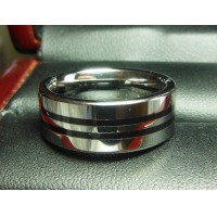 TUNGSTEN CARBIDE 2 STRIPE LADIES COMFORT FIT WEDDING BAND FROM SIZE 6.5 $1NR