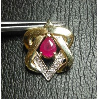 $200-$400 RUBY & DIAMOND STAR OF DAVID PENDANT 14K $1NR HAPPY SUKKOT