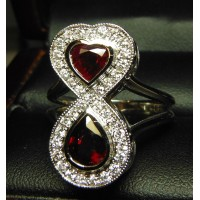 Made to order 2.80Ct Ruby & Diamond Ring 18k White Gold by Daniel Arthur Jelladian