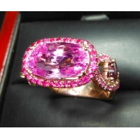 Sold Gia Rare 8.12Ct No Heat Purplish Pink Sapphire, Ruby & Diamond Ring 18k by Jelladian