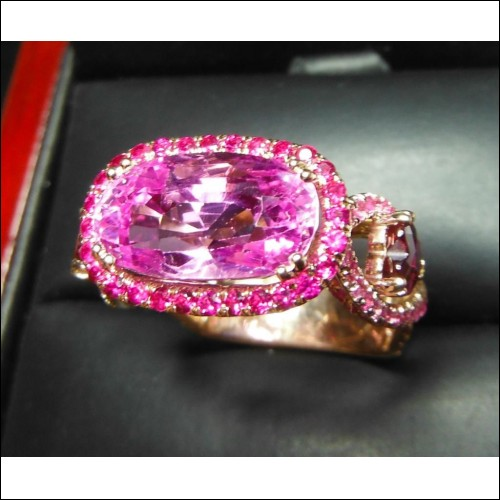 Sold Gia 8.12Ct No Heat Purplish Pink Sapphire, Ruby Ring 18k by Jelladian