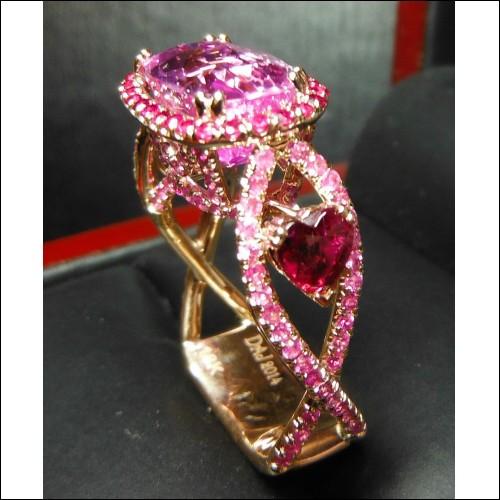 Sold Gia 8.12Ct Center No Heat Purplish Pink Sapphire, Ruby & Diamond Ring 18k by Jelladian