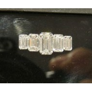 Sold set of 5 Graduated Emerald Cut Diamonds for Wedding or Anniversary Band