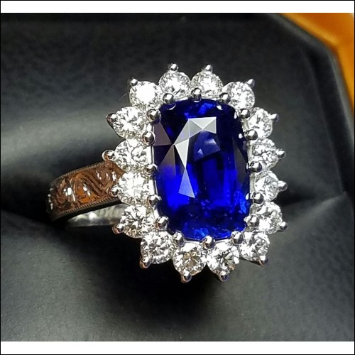 Sold 5.99Ct Royal Blue Sapphire & Diamond Ring Platinum By Jelladian Gia Certified