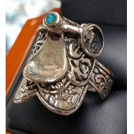 Saddle Ring Silver-LIFE and LOVE goes on. Biblical Proof of What Day is The Sabbath. The Seventh Day is Saturday