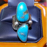 Estate Turquoise Ring Silver