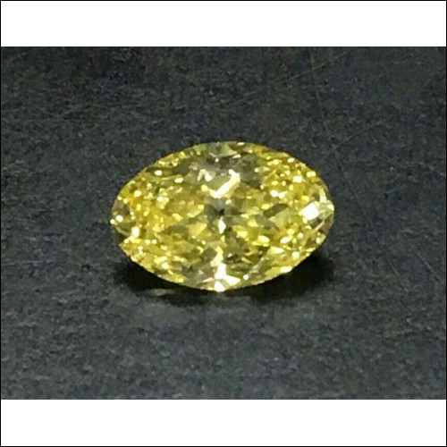 Sold 1.74Ct Gia Fancy Intense Yellow Oval Diamond Vs2