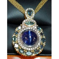 Sold Cat's Eye Tanzanite & Alexandrite & Diamond Pendant by Jelladian