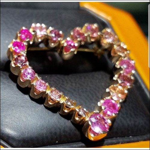 Sold Celebration of Pink  Pink Sapphires, Tourmalines & Diamonds 18k Rose
