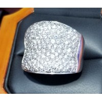 $3,000-$4,000 3.00Ct Pave Diamond Ring 14k White Gold Reserve $2,500