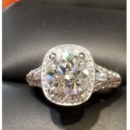 $14,710 Gorgeous 1.97Ct Center Diamond F Vs2 plus Estate Ring 14k White Gold