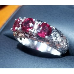 Sold Gia Certified Ruby and Diamond Band Platinum by Jelladian