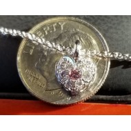 Sold Personalized I Love You Heart Pendant or Bracelet Charm Shown with Gia Fancy Intense Purplish Pink Diamond $3,000. Available with Pink Sapphire Center $555
