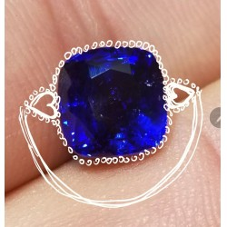 4.53Ct Gorgeous Blue Sapphire & Diamond Ring Gia Certified