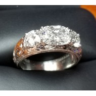 "Sold 2.05Ct ""Rae of Light"" 3 Gia D Color Internally Flawless Diamonds Plat By Daniel Arthur Jelladian"