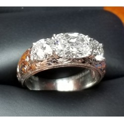 "Sold 2.05Ct ""Rae of Light"" 3 Gia D Color Internally Flawless Diamonds Plat By Jelladian"