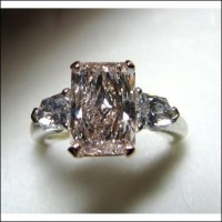 Sold 2.77Ct Center Gia Light Pink Internally Flawless Radiant Diamond Ring