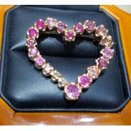 Sold Celebration of Pink Sapphires,Tourmalines & Diamonds 18k Rose Gold Pin/Pendant by Daniel Arthur Jelladian $3,000
