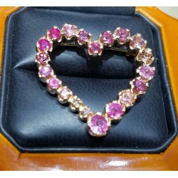 Sold Celebration of Pink Sapphires,Tourmalines & Diamonds 18k Rose Gold Pin/Pendant by Daniel Arthur Jelladian $3,000-$4,000