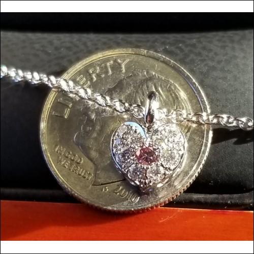Sold Gia Fancy Intense Purplish Pink Diamond & Colorless Diamond Pendant 18kwg by Jelladian