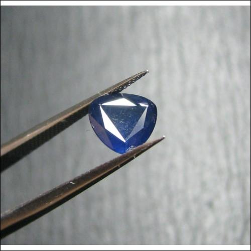 1.10CT TRIANGULAR CUT BLUE SAPPHIRE- SEPTEMBER BIRTHSTONE $1NR