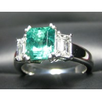 Sold Gia 2.21CT Emerald & Diamond Ring Platinum by Jelladian