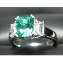 Sold 2.21CT Emerald & Diamond Ring Platinum By Daniel Arthur Jelladian $4,500