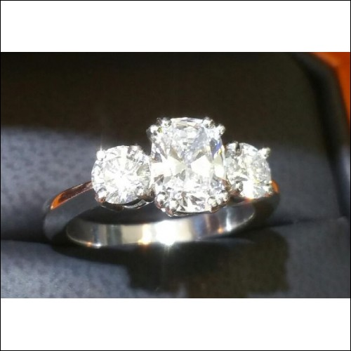 Sold 2.05CT Gia All 3 Stones D Internally Flawless Wedding Ring Platinum- I can make another