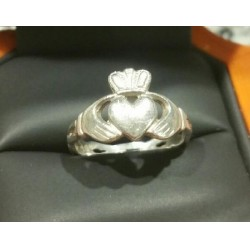 ESTATE CLADDAGH RING STERLING MADE IN IRELAND- LOVE LOYALTY FRIENDSHIP