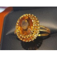 Estate 3.50Ct Citrine Oval Ring 18k Gold - Today at the gem lab we talked about the stones in Aaron's Breast Plate