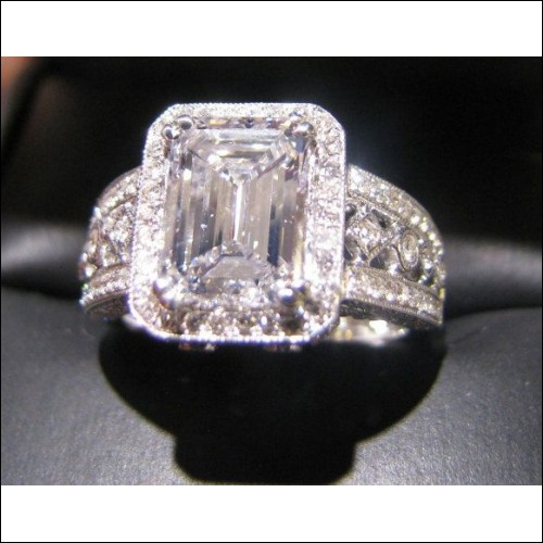 50000 estate 298ct emerald cut diamond wedding ring gia With 50000 wedding ring