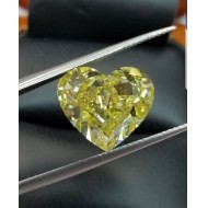 Sold Gia 10.00ct+ Natural Fancy Vivid Yellow Vs2 Diamond