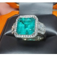 Sold 4.62Ct Gia Certified Emerald & Diamond Ring Platinum by Jelladian