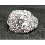 Sold 5.98Ct Mosaic Of Diamonds Wedding Ring 18kwg by D.A.J.