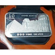 Estate Louvre Paris 999 Pure Silver Ingot 10grams $1Nr