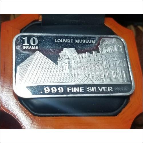 Estate Louvre Paris 999 Pure Silver Ingot 10grams $1Nr