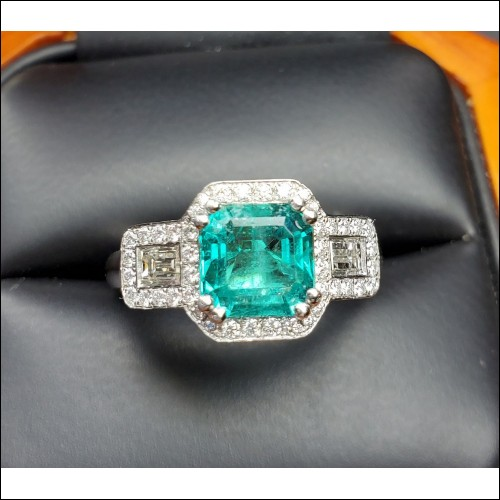Sold 2.08Ct Emerald and Diamond Ring Platinum by Jelladian