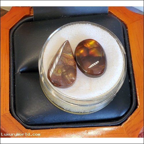 5.37Ct & 3.62Ct Fire Agate Lot of 2 Stones $29