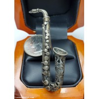 $50-$100 Estate Saxophone Brooch Sterling $1Nr