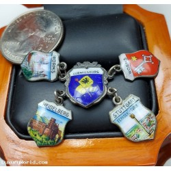 $25-$50 Estate Lot of 5 Charms from Germany Stuttgart, Worms, Heidelberg  & Ludwigsburg $1Nr