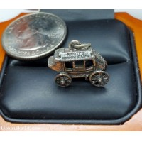 $25-$50 Estate Knott's Berry Farm Stagecoach Charm Sterling Silver $1Nr