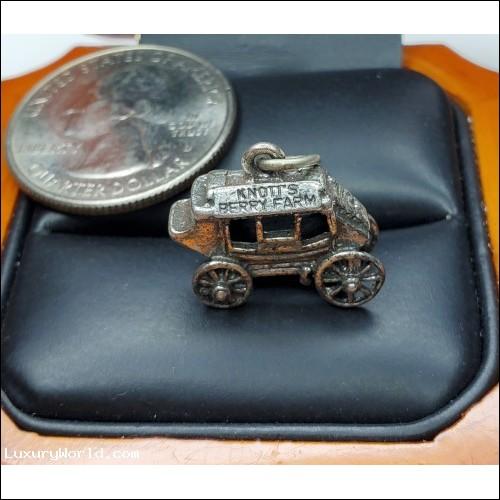$25-$50 Estate Knott's Berry Farm Stagecoach Charm Sterling Silver $1Nr