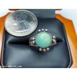 $25-$50 Estate Turquiose Ring size 4.5 Sterling Silver $1Nr