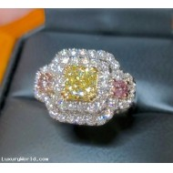 Sold Gia 1.01Ct Fancy Yellow Internally Flawless Diamond Ring Platinum by Jelladian